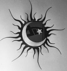 sun and moon as one tattoo - Google Search