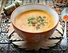 Постный суп из красной чечевицы. Ингредиенты: томатная паста, морковь, картофель