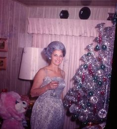 When your hair matches your Xmas tree.....awesome