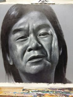 Drawing oil painting