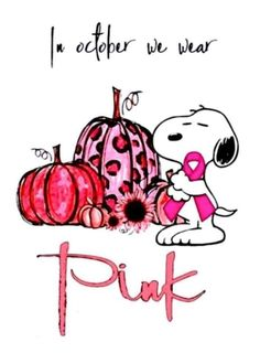 Snoopy Quotes, Charlie Brown And Snoopy, Fictional Characters, Pink Ribbons, Cancer Awareness, Art, Art Background, Kunst, Performing Arts