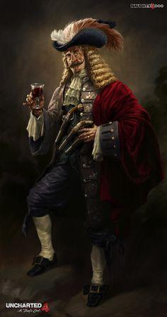 Uncharted 4: Captain Adam Baldridge, Hyoung Nam on ArtStation at https://www.artstation.com/artwork/JOYrm