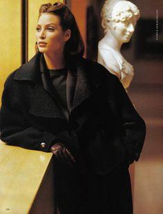Christy Turlington by Patrick Demarchelier for Harper's Bazaar US September 1992