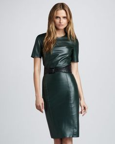 Lara Leather Pencil Skirt by Sachin + Babi at Bergdorf Goodman.