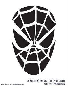 Spiderman carving template.