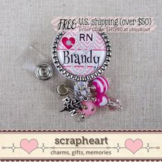 RN Name Badge Reel Personalized With Name by ScrapheartGifts
