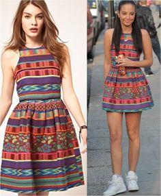 April 2012 // Tulisa wears ASOS Skater Dress in Mexican Print  http://asos.to/IApGJM