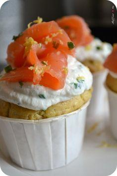 Cupcakes salés au saumon, ricotta & citron