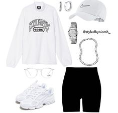 Casual School Outfits, Swag Outfits For Girls, Cute Swag Outfits, Cute Comfy Outfits, Girls Fashion Clothes, Teenager Outfits, Teen Fashion Outfits, Retro Outfits, Stylish Outfits