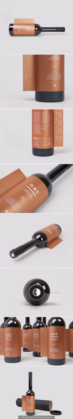 Only At Christmas. Yup, it's the name of this wine. #packaging #bottle #design