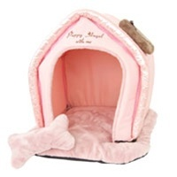Quilting Heart House - Pink - Beds, Blankets & Furniture - Pet Dens Posh Puppy Boutique