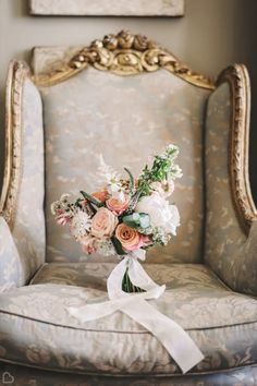 These bridal flowers by Foxgloves & Roses truly capture the joy of a summer wedding day.