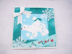 Made by Rebecca Ruff - Made using Tattered Lace Little Monsters Polar Bear and lots of embellishments. I love this die set, they are the most gorgeous little monsters I have ever seen! Christmas 2019, Christmas Cards, Christmas Stuff, Polar Bear Christmas, Tattered Lace Cards, Little Monsters, Embellishments, Greeting Cards, Things To Sell