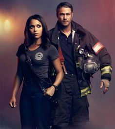 Monica Raymund (Dawson) and Taylor Kinney (Severide) on 'Chicago Fire'. | Shared by LION