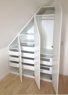 Use the sloping wall with a built-in cabinet - SILVAN HomeMade . Use the sloping wall with a built-in cabinet – SILVAN HomeMade … – storage –