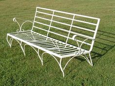 Vintage Wrought Iron Patio Sofa Couch Settee /Lounge Chair 4Pcs. Mid  Century   Vintage, Chairs And Mid Century