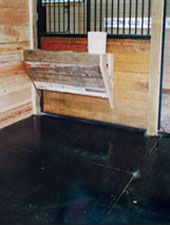 Horse stall mats will help reduce the amount of stress on your horse's legs, back and muscles.