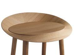 Wooden barstool ST10 JEAN by e15 | design Stefan Diez