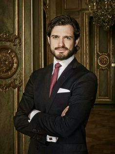 Sweden's Prince Carl Philip, who turned 35 this week.  His official birthday portrait by Anna-Lena Ahlström, Sveriges Kungahuset.