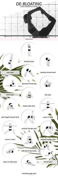 Yoga for De-Bloating.                                                                                                                                                                                 More