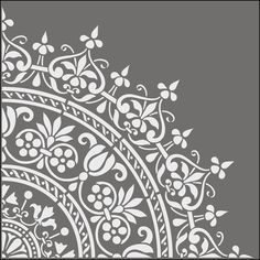 stencils from The Stencil Library. Buy from our range of Ottoman stencils online. Page 2 of our Ottoman motif stencil catalogue. Stencil Art, Stencil Designs, Mandala Stencils, Damask Stencil, Craft Robo, Motif Baroque, Moroccan Stencil, Moroccan Pattern, Arts And Crafts