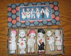 Vintage bisque frozen charlotte dolls