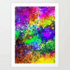 Aquarela_Textura digital  Art Print by Amanda Araujo - $12.48