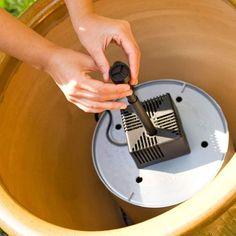 DIY Garden Fountain Tutorial ~ good step by step instructions
