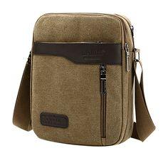 Ekphero Multifunctional Casual Canvas Crossbody Bag Vintage Retro ... bd32220f4ed98