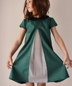 Eleena Dress pattern from coffee & thread- Love the inverted pleat - DIY Clothes Sweater Ideen Sewing Kids Clothes, Sewing For Kids, Baby Sewing, Childrens Sewing Patterns, Clothing Patterns, Kids Dress Patterns, Pattern Dress, Little Girl Dress Patterns, Little Girl Dresses