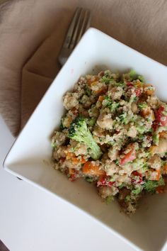 The taste of Myriam !: Quinoa salad with strawberries, chickpeas & Creamy...