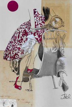 "Saatchi Art Artist Loui Jover; Drawing, ""florentia"" #art"