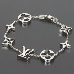 7c8251b2 Louis Vuitton 18K White Gold Monogram Bracelet with Box. Get the lowest  price for Louis