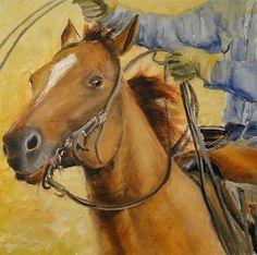 "Daily Paintworks - ""Move em out"" - Original Fine Art for Sale - © Karen Robinson"