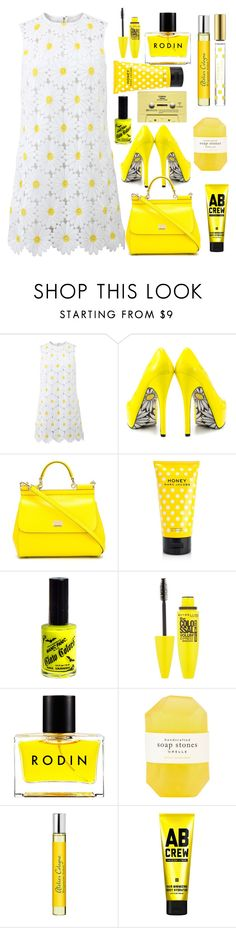 """Daisy Days"" by egordon2 ❤ liked on Polyvore featuring Dolce&Gabbana, TaylorSays, Marc Jacobs, Manic Panic, Maybelline, Rodin, Pelle, CASSETTE, Atelier Cologne and AB Crew"