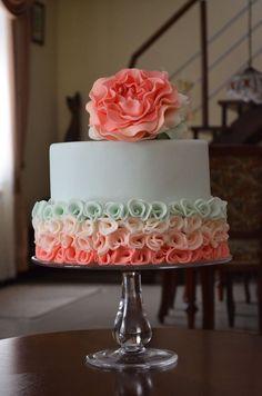 Cute, maybe make as a double barrell cake - Tasha Peony rose — Birthday Cake