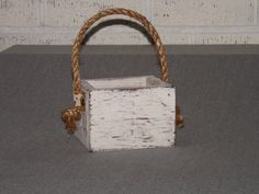 Wood planter box. Painted centerpiece. Wedding box. $12