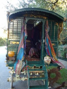 A vintage gypsy wagon, owned by Dorothy Budd of Dallas, will be on display at the home of Ray and Valine Lunn, 2011 Hampstead, during the Christmas Tour of Homes.