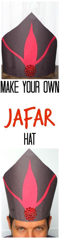 Learn how to make your own Disney's Descendants construction paper Jafar hat from Disney's Aladdin! Kids will love doing this easy craft! Aladdin Play, Aladdin Musical, Aladdin Movie, Aladdin Theater, Jafar Costume, Aladdin Costume, Disney Costumes, Family Halloween Costumes, Scary Halloween