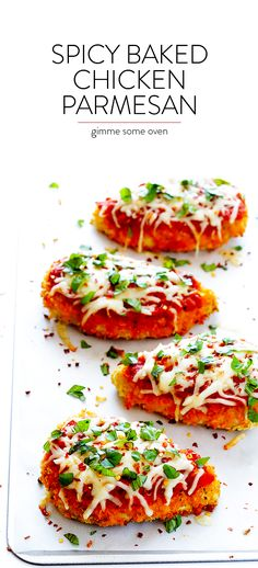 Spicy Baked Chicken Parmesan 1