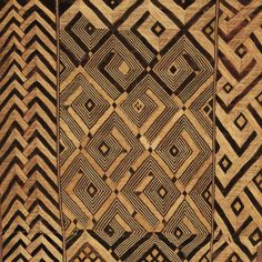 Africa | Detail from a Noblewoman's Ceremonial Overskirt. Shoowa people, DR Congo | Early 20th century | Raffia palm fiber; stem stitch and cut pile embroidery