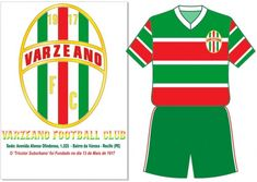 Varzeano FC of Recife, Brazil crest and kit for 1917.