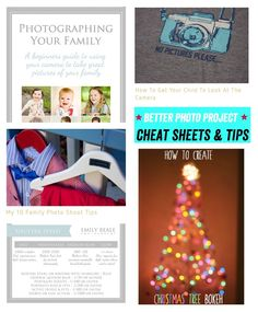 Better Photo Project – Week Six – Cheat Sheets & Tips