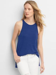 Softspun knit racerback tank tunic | Gap