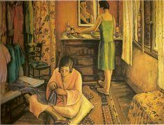Anita Malfatti, 'La rentrée' (interior). 1925-27.óleo sobre tela, Col.Pedro Tassinari Filho, SP