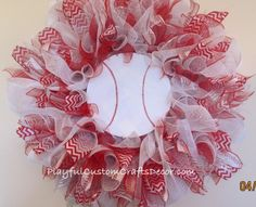 Get ready for baseball season by showing your support for your favorite team whether it's a high school, college, or pro team with a baseball wreath for your front door in your favorite team colors. T