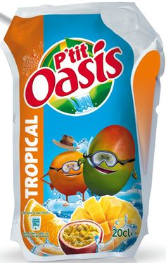Gamme P'tit Oasis - Tropical Oasis, Snack Recipes, Snacks, Non Alcoholic Drinks, Soda, Chips, Tropical, Lineup, Products