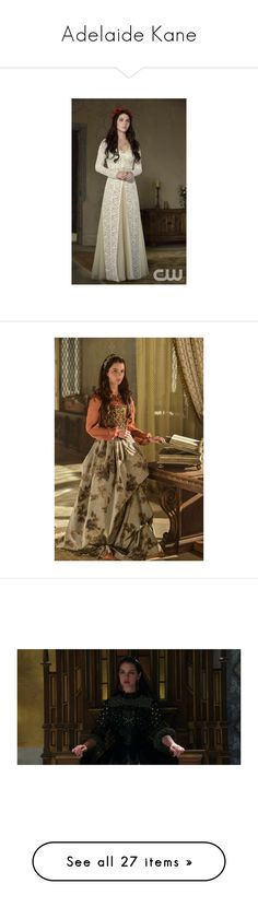 """""""Adelaide Kane"""" by ladyequestria ❤ liked on Polyvore featuring reign, adelaide kane, people, fantasy, medieval, accessories, pic, backgrounds, celebrities and medieval gown"""