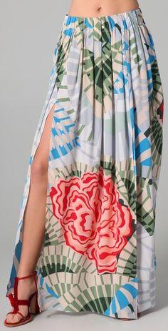 Pleated Maxi skirt Fabric Pattern is fantastic!
