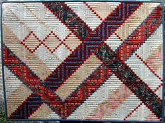 """""""Dubul Wurk"""" by Jelly, Netherlands    Fantastic log cabin quilt!"""